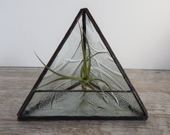 Stained Glass Terrarium Triangle Clear Everglade