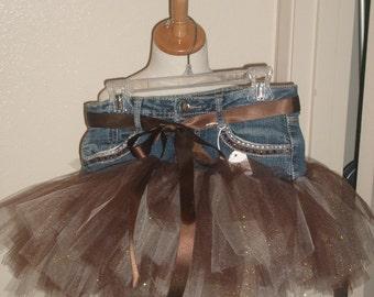 Little Girls Denim Tutu Skirt Size12