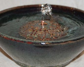"Cat Fountain -  Pet Water Fountain - Indoor Fountain - 9.75 Inch Diameter - ""Watermarks"""