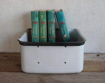 Large Vintage Enamelware Refrigerator Box
