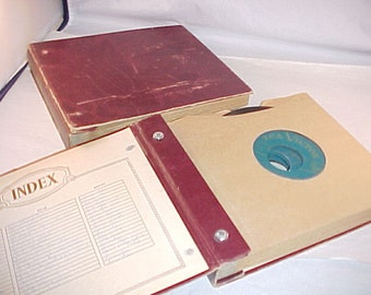 2 Record Albums with 45 rpm Vinyl Records
