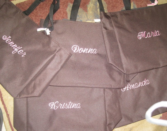 Bridal Party Personalized Totes (3) for Bridesmaid, Mother of Bride or Groom