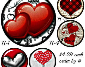 Valentine snap buttons are 20 mm and 4.29 each. Red Heart snap charms will also fit Ginger snaps jewelry.