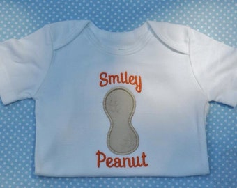 Personalized Peanut Shirt or Bodysuit for Girl or Boy