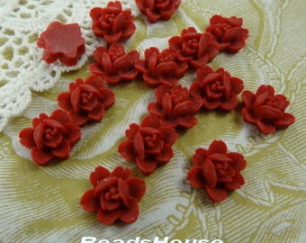 20%OFF - 502-00-CA  10pcs Petite Lily Cabochon - True Red