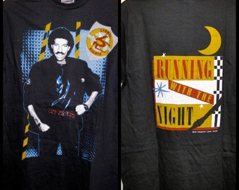 Vintage Deadstock 1980's 1984 Lionel Richie Running with the Night cotton T-shirt size Medium NOS