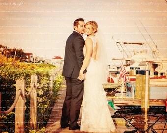 Wedding Vows Song Lyric Custom Word Art Photo Gift on Paper 11x17