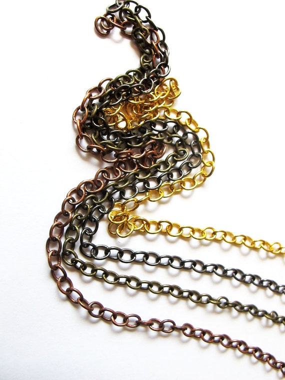 30 inch Chain Necklace for Customized Jewelry - Plated Heavy Chains