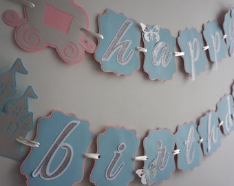 Cinderella Inspired Birthday Banner - MADE TO ORDER