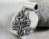 Silver Cedar, PMC OOAK Jewelry, Fine Silver Pendant, Natural Plant Reproduction, Artisan Handmade