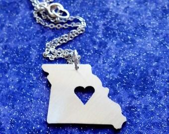 I Heart Missouri - Necklace Pendant or Keychain