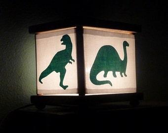 Dinosaur Night Light Dinosaurs Lighting Green Trex Brontosaurus