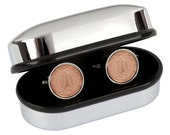 7th year wedding anniversary- 2009 Irish coin cufflinks