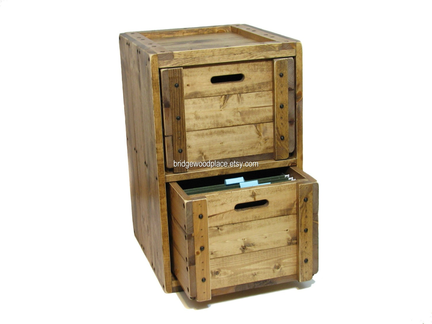 solid wood file cabinet rustic office filing by