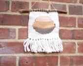 Spring sale - Jupiter Weaving - wool and metallic yarns on twig