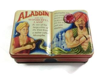 Aladdin, The Silver Crane Company Tin