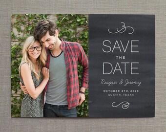 Save the Date, Photo Save the Date, Save the Date Postcard, Save the Date card, Chalkboard Save the Date