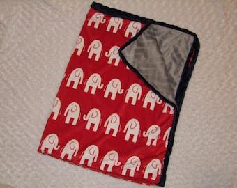 Elephant MINKY Blanket- Ships in 1-3 Business Days