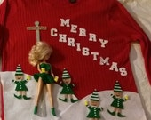 Custom, Homemade - Hysterical, Tacky,Ugly , Light up, Naughty Christmas Sweater, Mens, Women's, North Pole Stripper, Elves