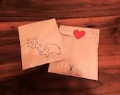 Big Love Elephant Treat Bags (Gocco printed)