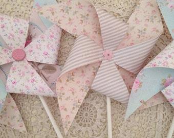 Pretty Pinwheels ~ set of four