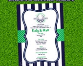 Daddy's Little Caddy Golf Themed Baby Shower Invitation for Boys and Girls - Printable or Printed - Party Decorations and Party Supplies