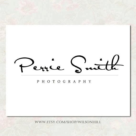 Premade logo  - Logo design - photography logo - script logo - typography logo - typography design - modern logo