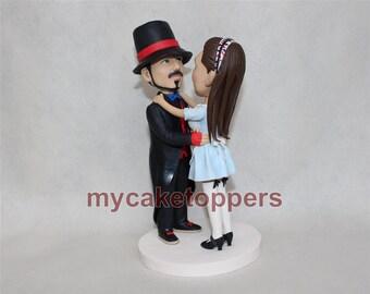 Cake Topper custom wedding cake topper personalized cake topper for wedding tophat cake topper custom figuirnes bride and groom lifelike
