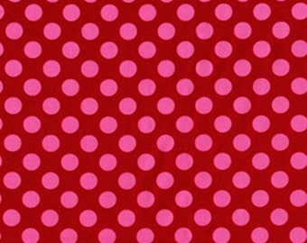 Berry Ta Dot - Red & Pink Polka Dots - Michael Miller Fabrics