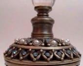 bronze blue enamel on, etsy, a global handmade and vintage market place