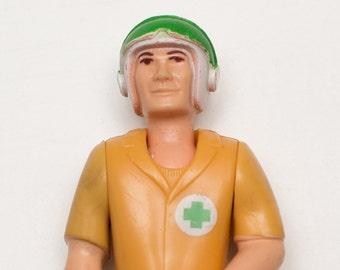 Vintage 1970s Rescue Copter 305 Pilot Action Figure, FP Toy