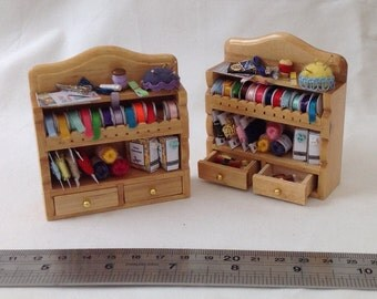 Dolls House Miniatures - Sewing Shelf x1
