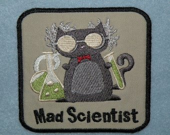 Mad Scientist Iron on Patch-4""