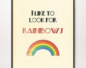 8x10 I Like to Look for Rainbows Art Print LDS Mormon