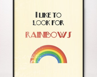I Like to Look for Rainbows • Art Print • Choice of Design • LDS Mormon When I Am Baptized Baptism