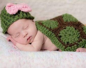 Tiny turtle photo prop, Newborn turtle photography prop, Crochet Turtle, Crochet turtle photo prop