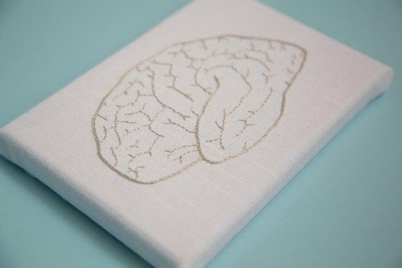 Hand Embroidered Brain