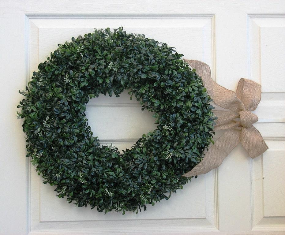 Boxwood Wreath Front Door Wreath Outdoor Door Wreath
