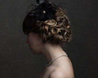 Tamara - Bridal Hairpiece Fascinator,  Bridal Hair Fascinator, Hairpiece, Wedding Accessories