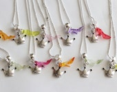 Princess Party Favor Necklaces Glass Slippers Birthday Party 10 Mixed Colors Glass Slipper Crown Necklaces