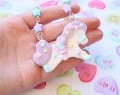 Fairy Kei Carousel Pony Necklace Lilac