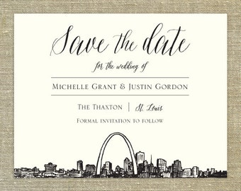 St. louis save the date | Etsy