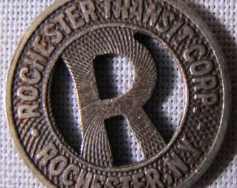 SCARCE Rochester New York Transit Token Letter R In Center