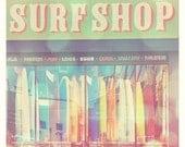 California beach photography, surfer home decor, beach lovers, summer vacation, surf shop rainbow surfboards, girl surfers, beach nursery