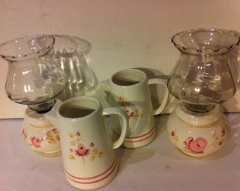 Vintage 6 Piece Rose Home Interior Set
