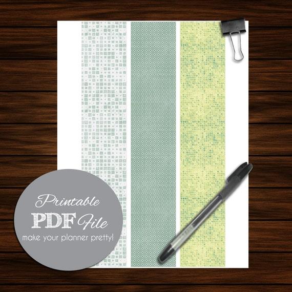 Daily Planner 2 Binder Spine Insert By Erikasgraphicdesign