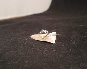 Heart Knot Ring. Sterling Silver. Stackable. Any Size!