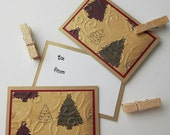Christmas Clothespin Gift Tags:  Handmade 3 Pack Mini Set - Cottage Christmas