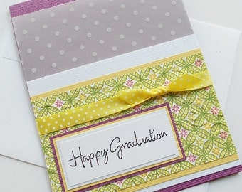 Graduation Greeting Cards: Handmade Blank Note Card - Sweet & Sassy