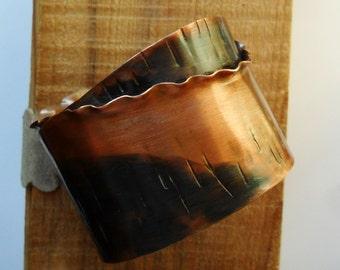 Double Layered Copper Cuff Bracelet